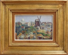 Jean Jaffeux, 'View of Montmartre' Paris, 1955, Landscape Oil Painting