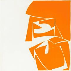 Covers 3 Orange, abstract etching and aquatint in brilliant yellow orange.
