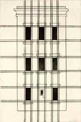 """Brownstone 1"", urban landscape etching, aquatint print, New York City inspired."