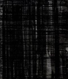 """Shade To Shade"", black on black abstract aquatint etching."