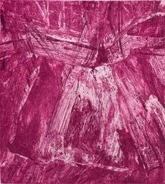 Shandaken Five , Catskill mountain abstract landscape print, magenta, pink.