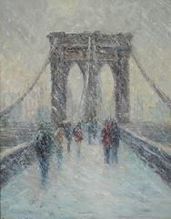 Brooklyn Bridge in Snow
