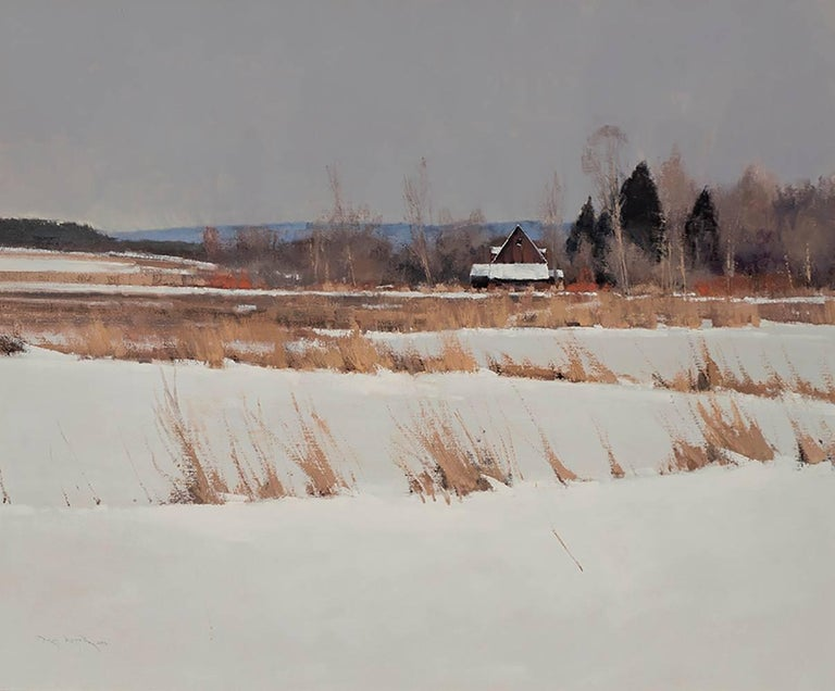 Ben Bauer Landscape Painting - A Dunn County Relic