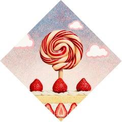 Beth Sistrunk, Strawberry Shortcake, acrylic and oil on panel