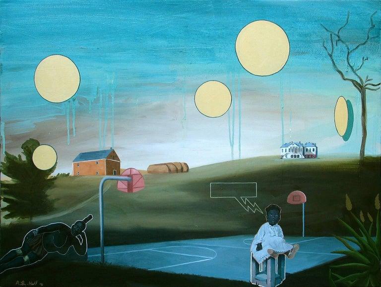 Ronald Hall Figurative Painting - Basketball Diaries