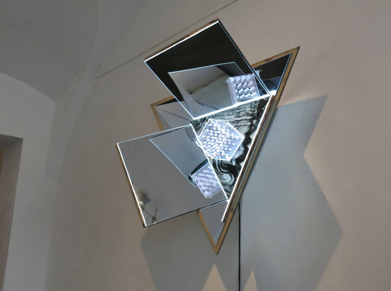Meteorite 1 - Abstract Geometric Sculpture by MaDora Frey