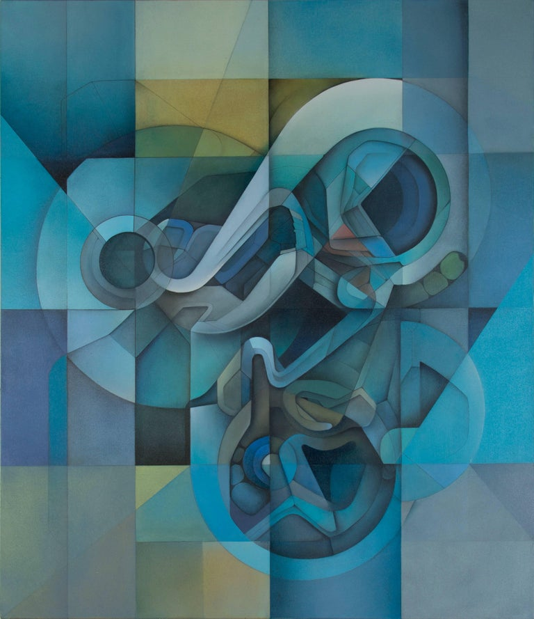 Evan Venegas Abstract Painting - LOST GRID M25