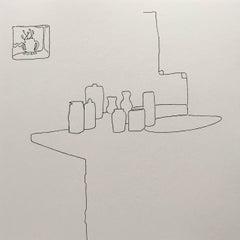 Minimalist Interior Drawings and Watercolors