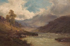 Glen Shiel - Scottish Oil painting by Alfred De Breanski Snr