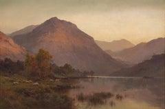 A Still Evening Inversnaid  - Scottich landscape by Alfred De Breanski Snr