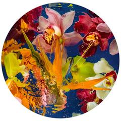 Aqua Flora No.3, Allan Forsyth, Still Life art, Colourful art, Floral Art