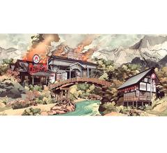 Wendy's Under Siege, Benjamin Buckley, Affordable art, Landscape art