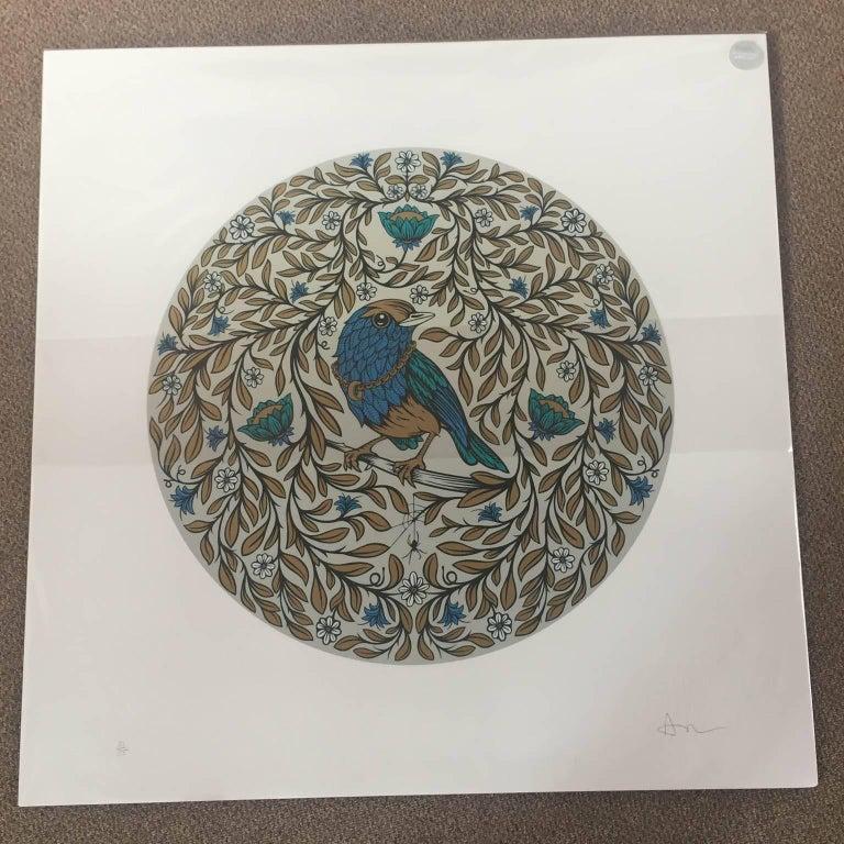 Blue Bird  - Print by Andy Wilx