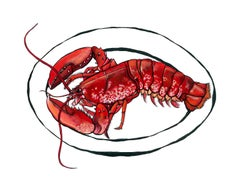 Dartmouth Lobster, Lucy Routh, Original Art, Affordable art, Animal Art