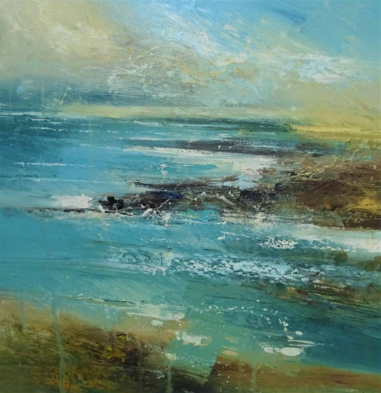 Cove 3, Seascape Oil Painting - Mixed Media Art by Claire Wiltsher
