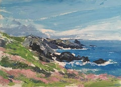 Skomer, Pembrokeshire, Slan McGill, Acrylic on Board, Original Art, Affordable