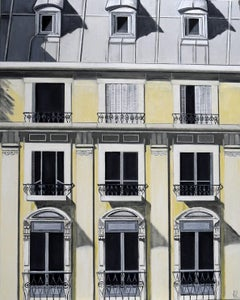 Paris Façade - architectural oil painting