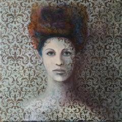 Ephemera, an original acrylic portrait painting