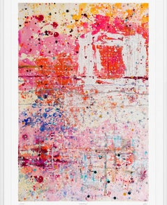 Red Skies, Limited Edition, Giclee print, red, abstract