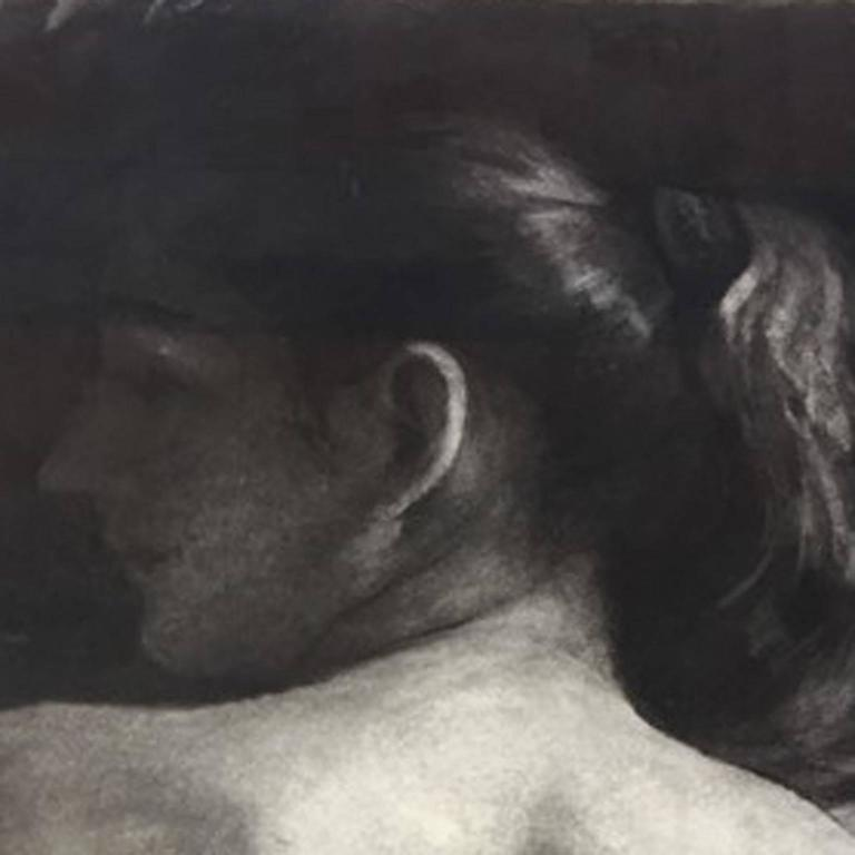 Daniel Ludwig is an American figurative artist who lives and works in Brooklyn, NY and Berkley. His original piece of artwork pictured above is called 'Back View' and this work of art is an original charcoal drawing on paper. This artwork features a