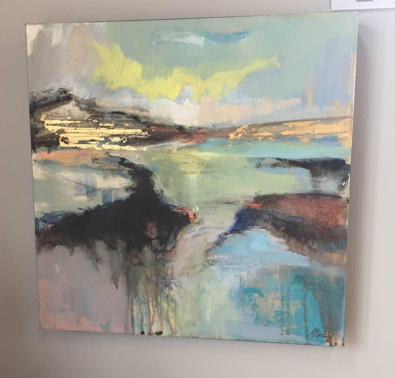 Distant Horizons 2, original art , seascape , colourful art  - Painting by Magdalena Morey