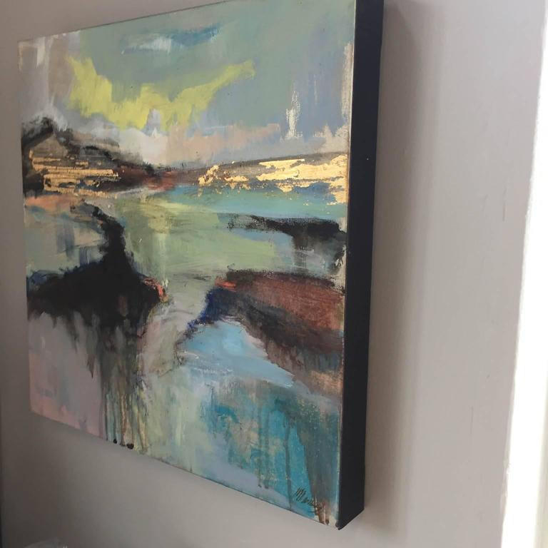 Distant Horizons 2, original art , seascape , colourful art  - Contemporary Painting by Magdalena Morey