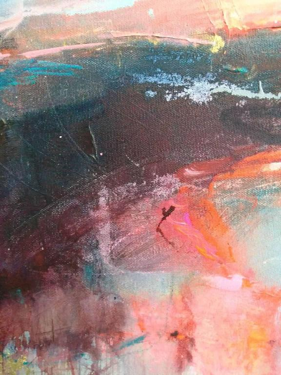 Interlude 2 - Gold Abstract Painting by Magdalena Morey