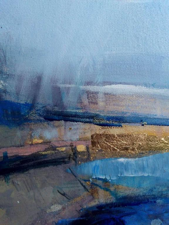 Interlude 3 - Gray Abstract Painting by Magdalena Morey