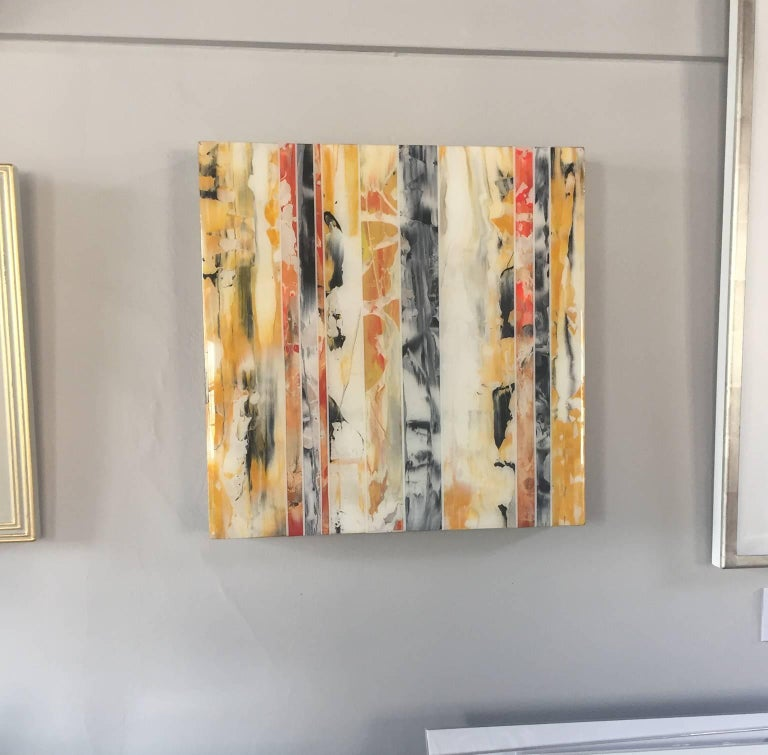 EQ Redefined Series: 1700-EU101-6, abstract wall art , yellow ,orange and black - Contemporary Painting by ANDRZEJ MICHAEL KARWACKI