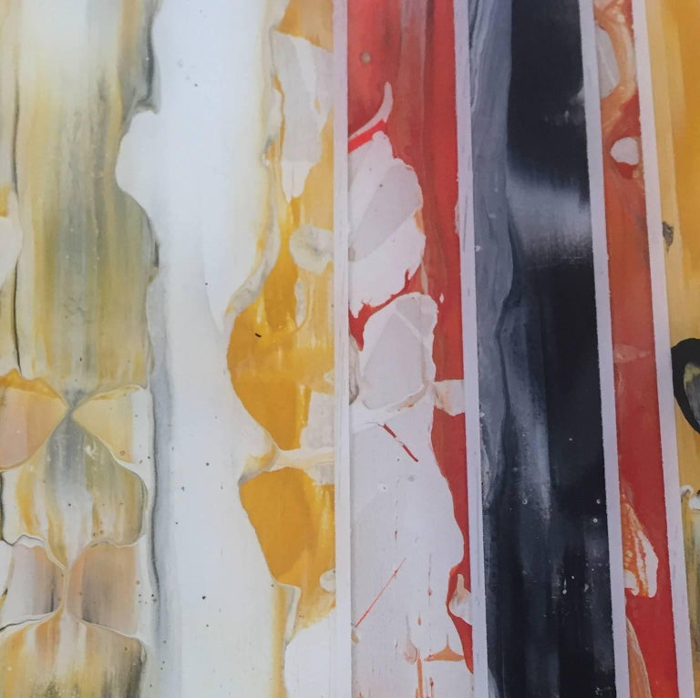 EQ Redefined Series: 1700-EU101-6, abstract wall art , yellow ,orange and black For Sale 2
