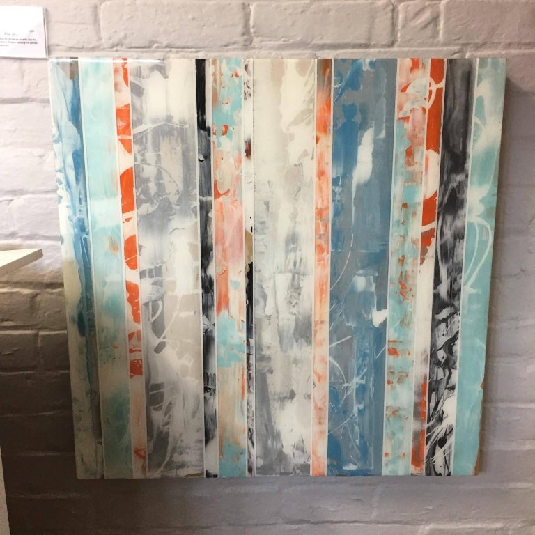 Abstract wall art , stripes , EQ Redefined Series: 1700-EU101-3 For Sale 1