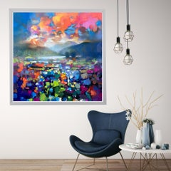 High Resonance, Scottish Landscape Painting, colourful contemporary abstract art