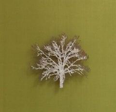 Moss Tree, Crystal Glitter Oak Tree, laser cut relief wall art