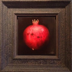 Dani Humberstone art, Crimson Pomegranate, still life art, original art