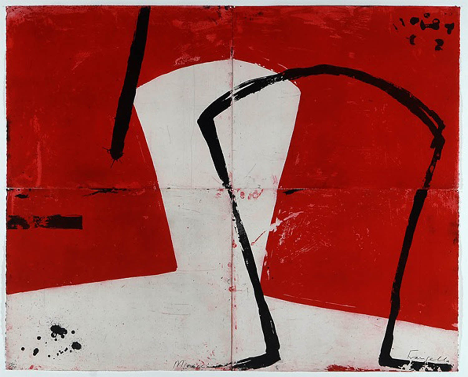 Mirror, Graham Fransella, Limited Edition Etching, Affordable Print, Red Print
