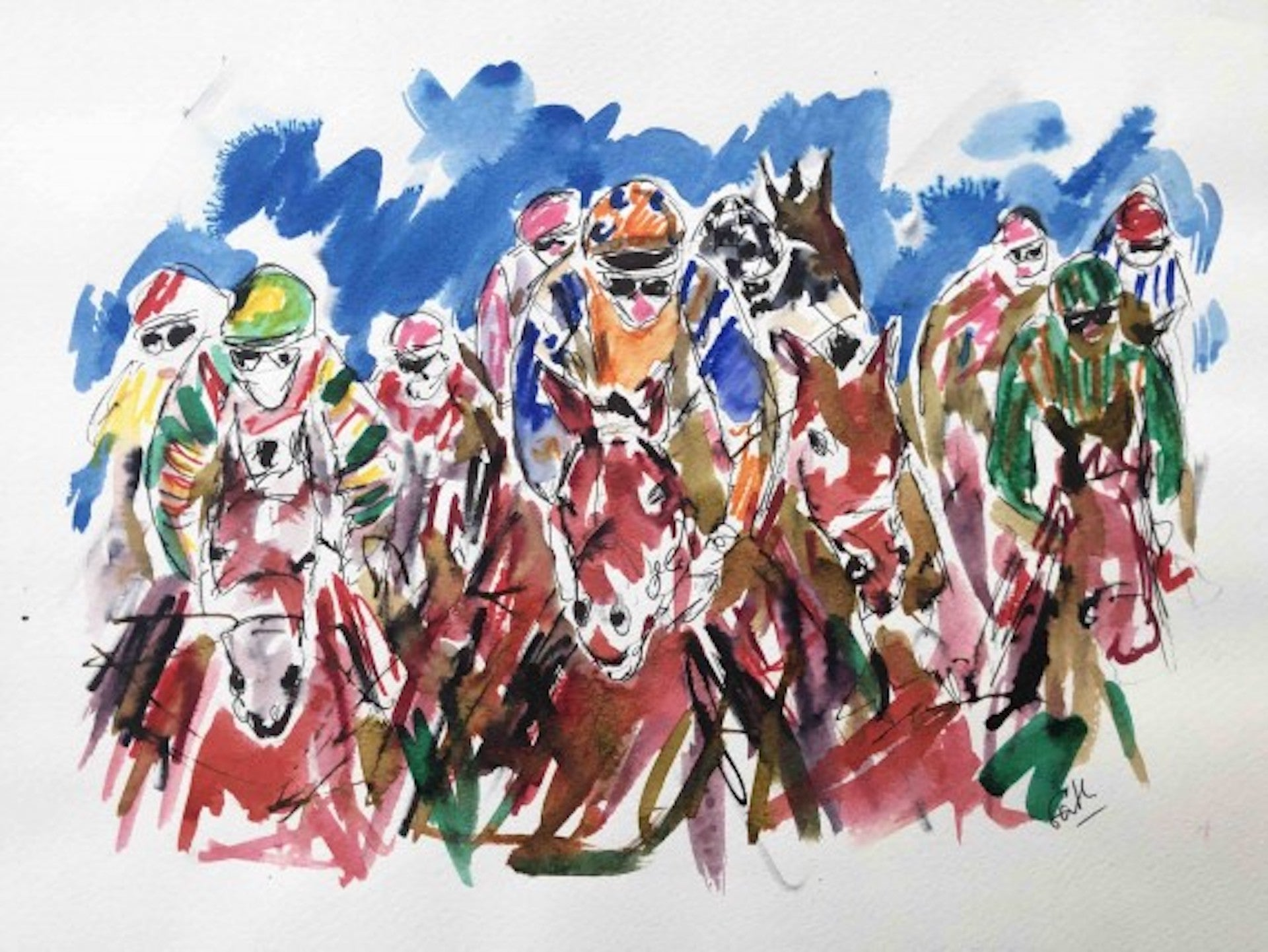 Garth Bayley, Heart of the Race, Horse Racing Art, Contemporary Art, Art Online