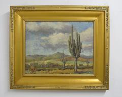 South West Desert Landscape Painting by Frank Sanford