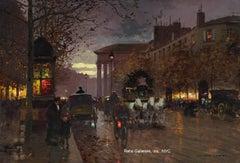 Boulevard de la Madeleine; an early example from his Paris Street Scene series