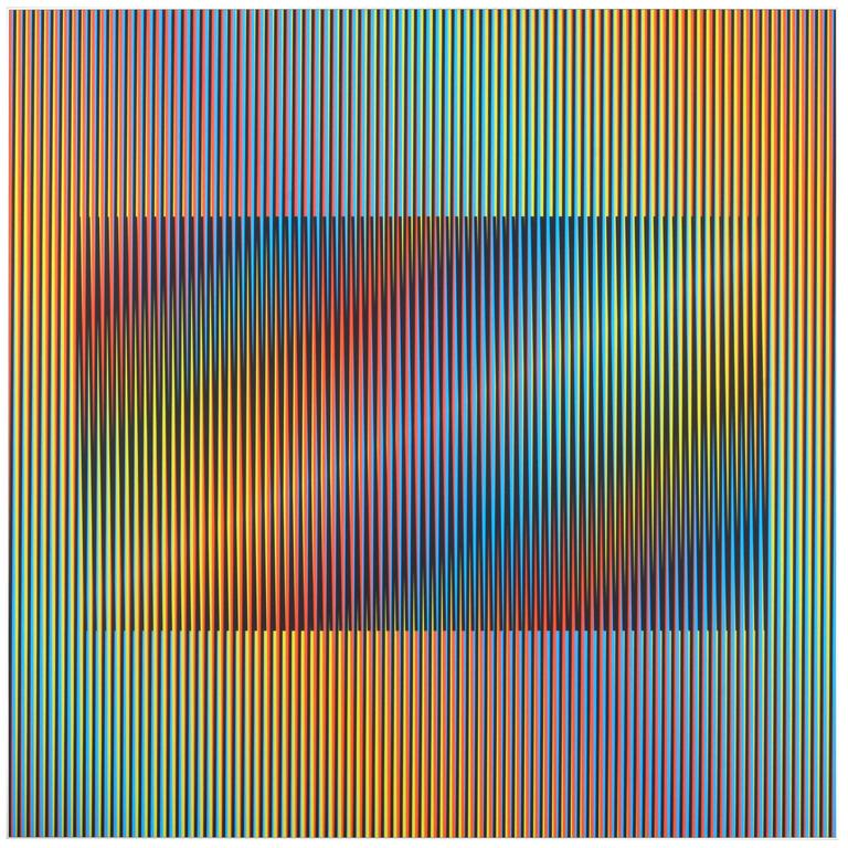 Carlos Cruz Diez Induction Cromatica A Double Frequentai