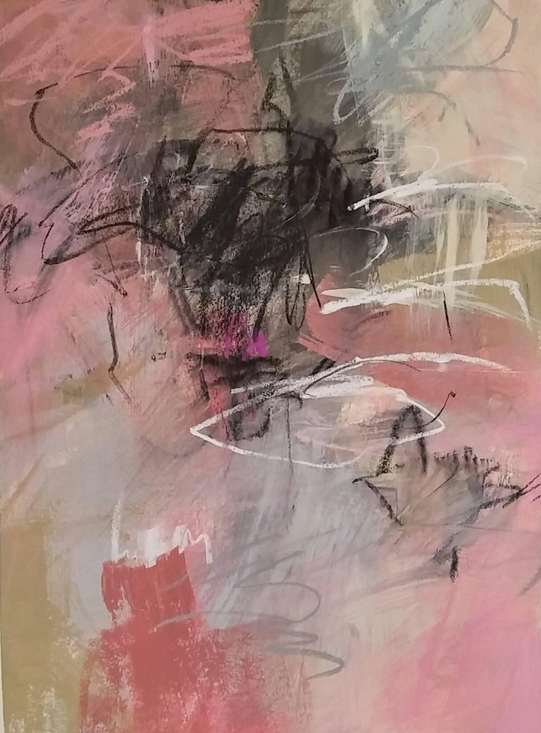 Debora Stewart Abstract Painting - Passion for Pink I