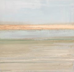 Oyster Beds in the Afternoon, Oil on Canvas Minimalist Landscape Painting