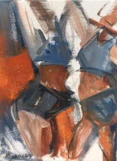 'PTown Bathers I', Oil on Canvas Cubist Style Small Size Painting