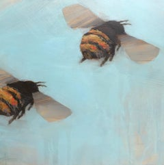 'Bees 1-10' Oil on Board Bee Painting