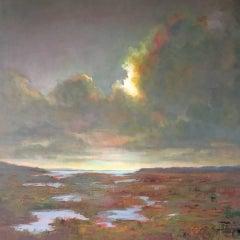 'Transition' Large Impressionist Landscape Oil on Linen
