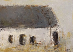 'The Cottage' Small Framed Cottage Impressionist Painting