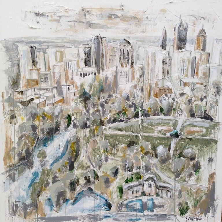 Sarah robertson 39 piedmont park 39 large atlanta cityscape for Atlanta mural artist