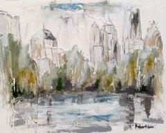'Lake Clara Meer, Piedmont Park,' Small Horizontal Atlanta Cityscape