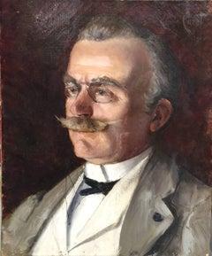 'Portrait de Lucie Corot' Small French Portrait Painting