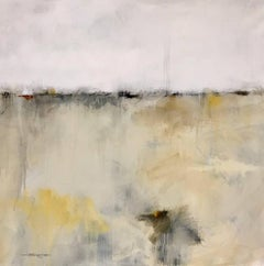 'Winter Sky', Abstract Oil on Canvas Painting of Square Format