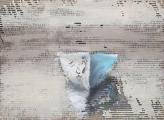 'Sweet Love', Medium Framed Mixed Media on Cardboard Contemporary Painting